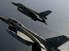Griekse F16's jagen op Turkse F16's boven Egeïsche zee