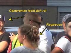 Ang vlogger riot sa Zaanse Poelenburg na gawa sa pagguhit na inilalarawan