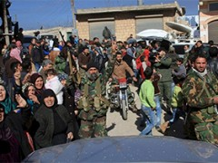 Westerse media melden executies versus Russische beelden van bevrijdingsfeesten in Aleppo
