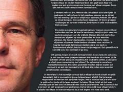Publikeco de Mark Rutte al ĉiuj nederlandanoj