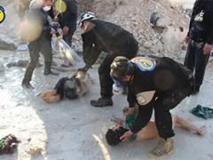 De tomahawk aanval op Syrië gebaseerd op valse vlag sarin-gasaanval?