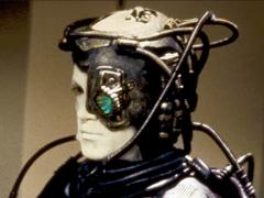 Drie ape vorm breinnetwerk (brainet) en bedryf robotarm