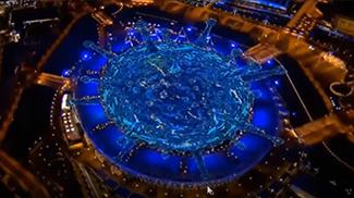 Коронавирус пандемиясы 2012-жылкы Олимпиаданын ачылыш аземинде болжолдонгон